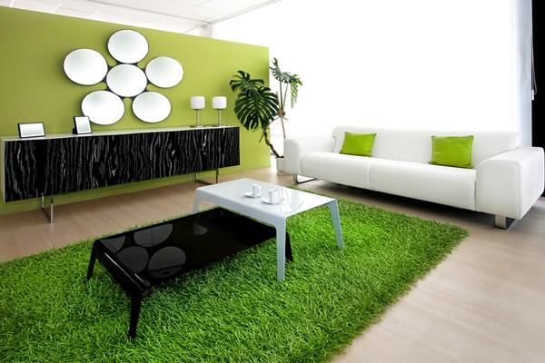 Lưu ý khi sơn nội thất màu xanh lá cây