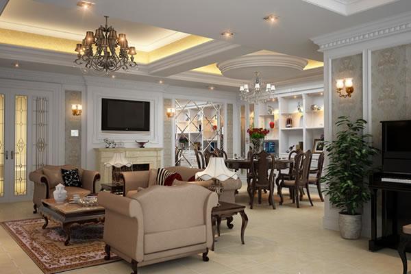 Sơn nội thất không gian nhà cổ điển