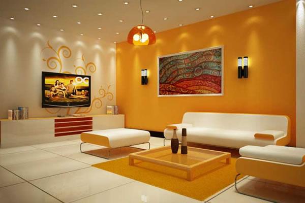 Sơn nội thất phòng khách tạo không gian độc đáo ấn tượng