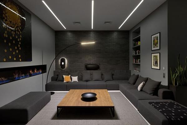 Không gian phòng khách tông màu xám-5