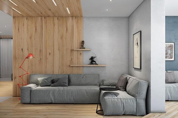 Không gian phòng khách tông màu xám-6