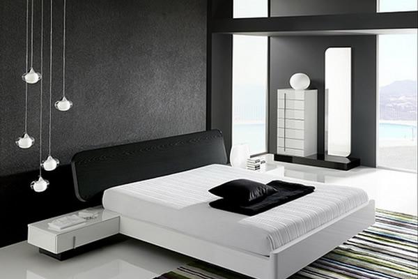 Sơn nội thất phòng ngủ với gam màu đen chủ đạo