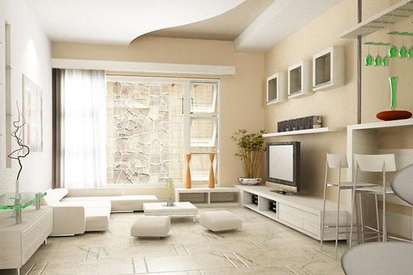 Không gian nội thất màu be