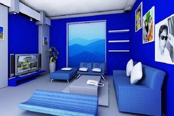 Kết hợp màu xanh - xanh