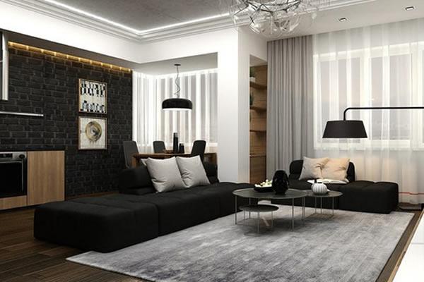 Không gian mới với sự kết hợp đen, trắng và màu của gỗ