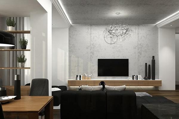 Không gian mới với sự kết hợp đen, trắng và màu của gỗ-3