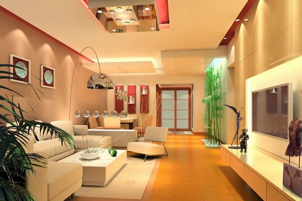 Màu trần và màu nền nhà nhạt hơn so với các bức tường xung quanh