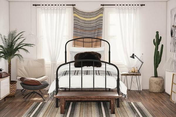 Phòng ngủ phong cách rustic-2