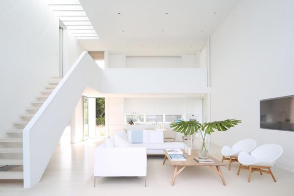 Không gian nội thất màu tương phản Xanh lá- Trắng
