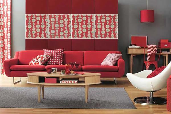 Sơn nội thất nhà với gam màu nóng