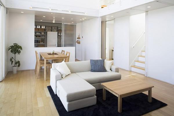 Không gian nhà màu trắng tối giản-2