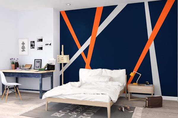 Bức tường màu xanh sẫm