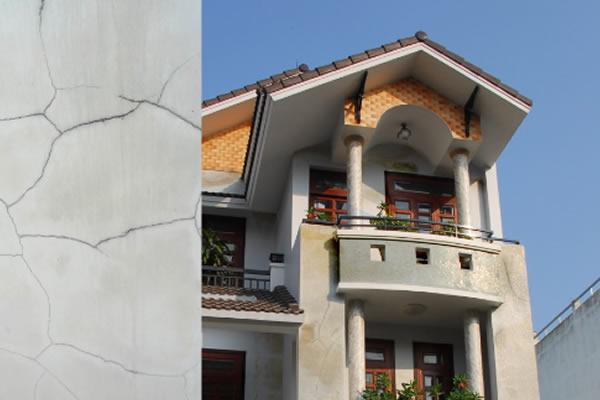 Tường bị nứt chân chim