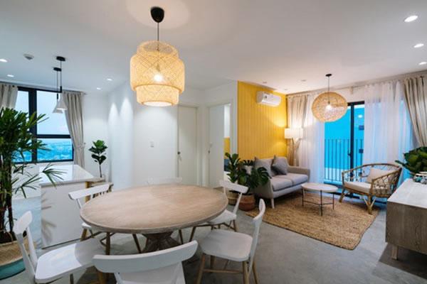 Trang trí nội thất nhà cho người mệnh Thổ với tone màu vàng