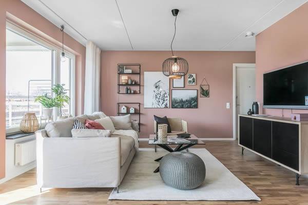 Căn hộ nổi bật với những bức tường hồng-3
