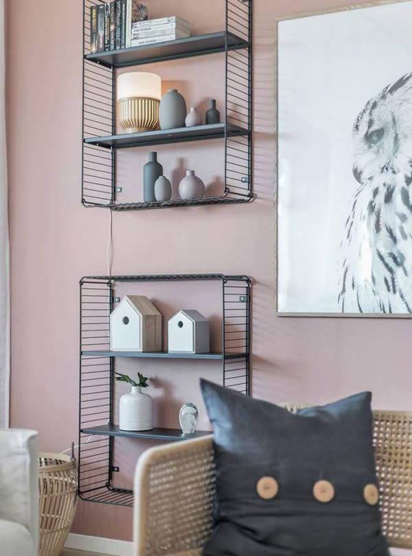 Căn hộ nổi bật với những bức tường hồng-5