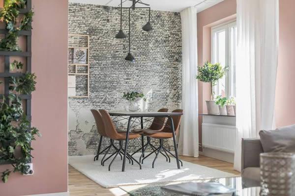 Căn hộ nổi bật với những bức tường hồng-7