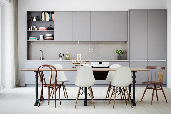 Không gian bếp màu xám-1