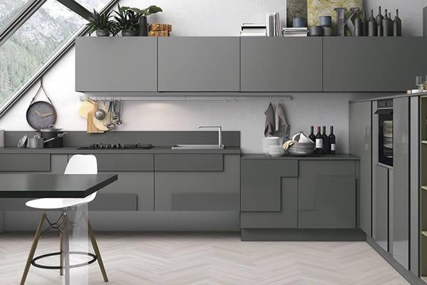 Không gian bếp màu xám-3