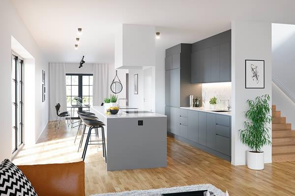 Không gian bếp màu xám-4