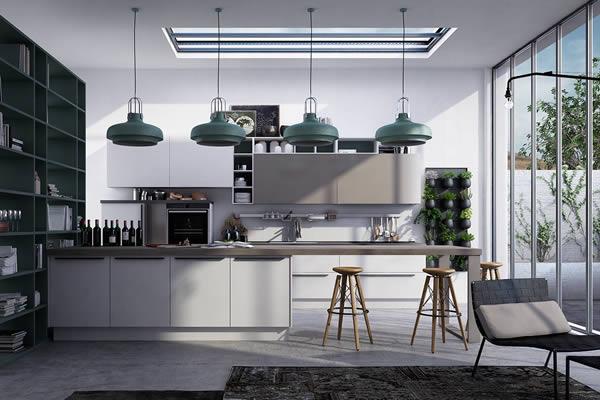 Không gian bếp màu xám-6