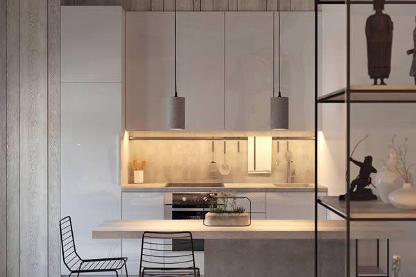 Không gian bếp màu xám-8