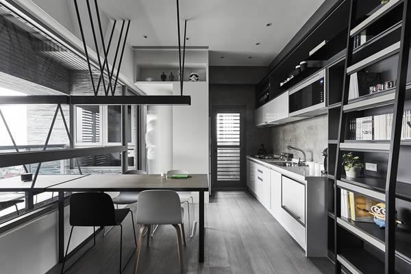 Không gian bếp màu xám-11