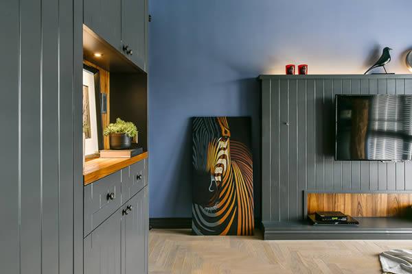 Không gian phòng ngủ màu xám xanh-1