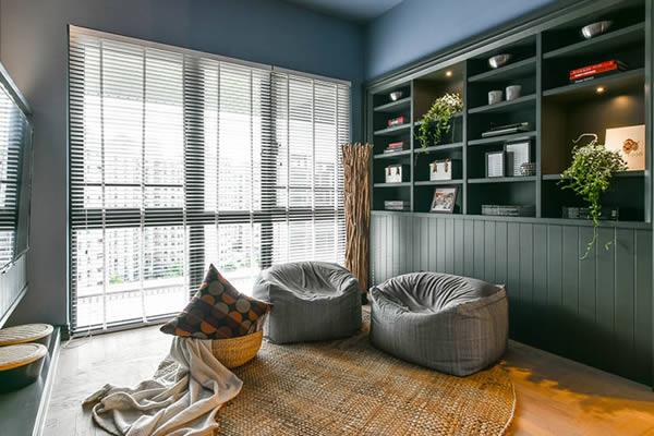 Không gian phòng ngủ màu xám xanh-2