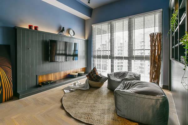 Không gian phòng ngủ màu xám xanh-4