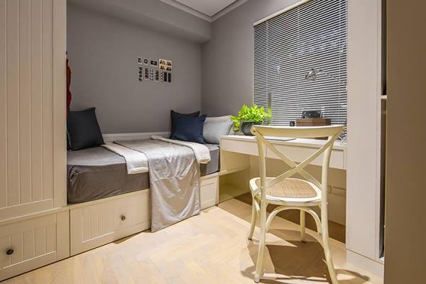 Không gian phòng ngủ màu xám xanh-10