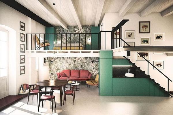 Không gian nhà rực rỡ mang phong cách Ý