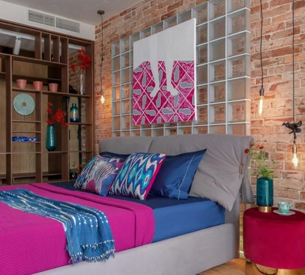 Phòng ngủ ấm cúng với ánh đèn nhẹ nhàng