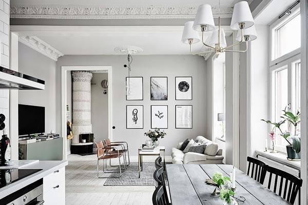 Ấn tượng với căn hộ màu xám trắng