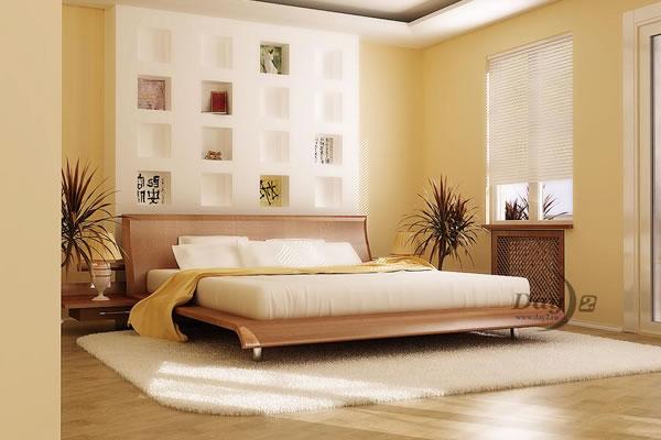 Không gian nội thất màu vàng kem-4