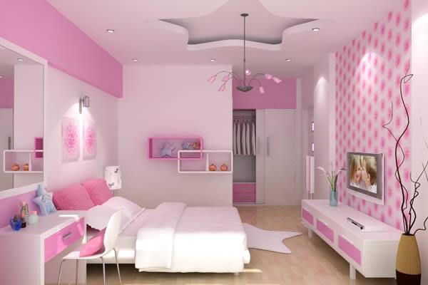 Không gian màu hồng -trắng