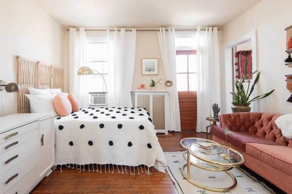 Trang trí căn hộ nhỏ màu pastel
