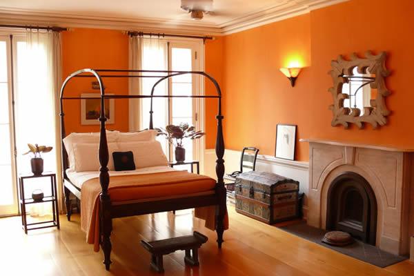Không gian nhà màu cam