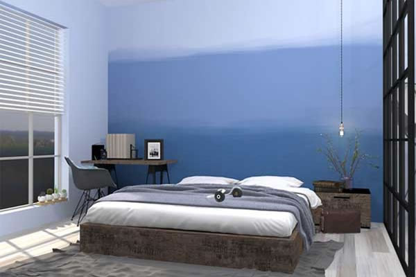Phòng ngủ sơn tường phong cách Ombre