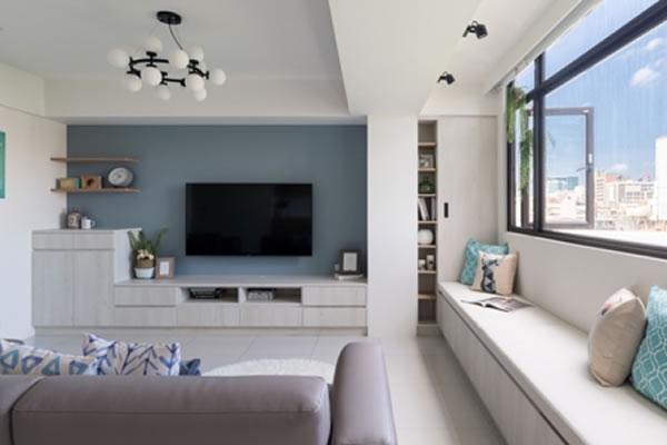 Gợi ý sơn nội thất màu xanh dương nhẹ-1