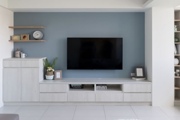 Gợi ý sơn nội thất màu xanh dương nhẹ-2