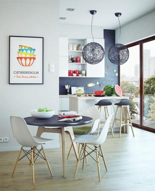 Phòng ăn đẹp và gọn gàng-12