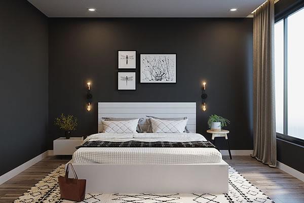 Màu tường và nội thất tương phản