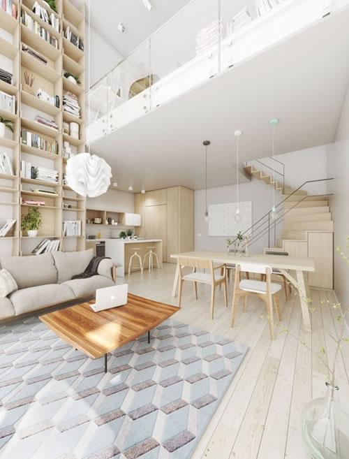 Căn hộ với thiết kế phòng khách liền kề phòng bếp-4
