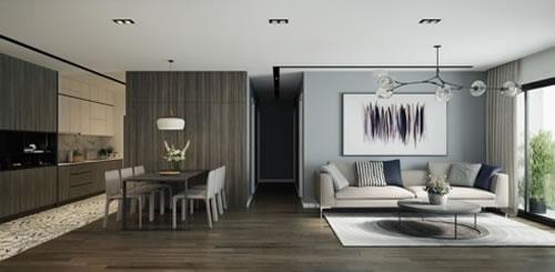 Căn hộ với thiết kế phòng khách liền kề phòng bếp-5