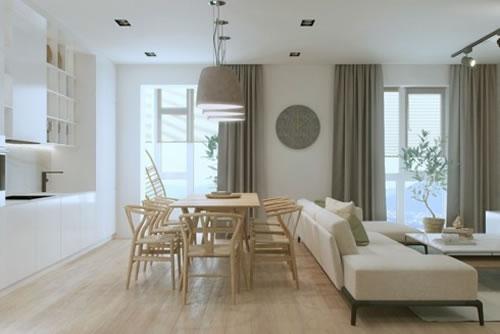 Căn hộ với thiết kế phòng khách liền kề phòng bếp-6
