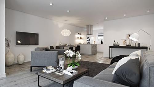 Căn hộ với thiết kế phòng khách liền kề phòng bếp-9