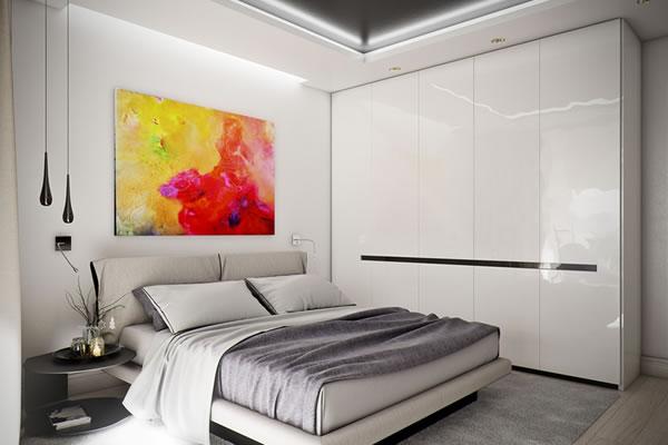 Căn hộ màu trắng với thiết kế phòng khách và nhà bếp liền kề sang trọng tiện nghi-6