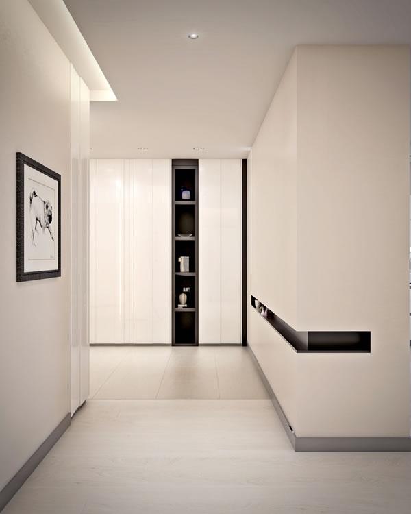 Căn hộ màu trắng với thiết kế phòng khách và nhà bếp liền kề sang trọng tiện nghi-8