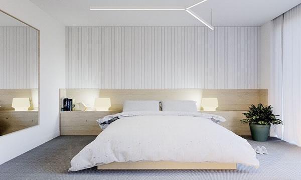 Phòng ngủ sơn tường màu trắng